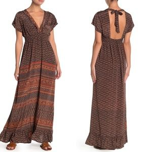 RAGA Reggie Printed Open Back Maxi Dress